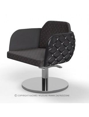 Fotel fryzjerski Diamante - czarny