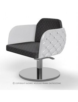 Fotel fryzjerski Diamante - czarno-biały