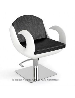Fotel fryzjerski FIORE szaro-biały