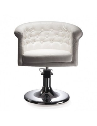WERSAL - Fotel fryzjerski biały