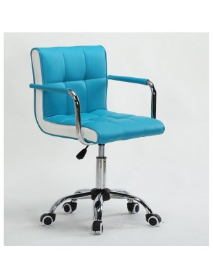 Fotel fryzjerski LAO turkusowy - kólka