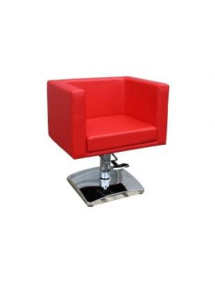Fotel fryzjerski FIGARO MASSA 1374 czerwony