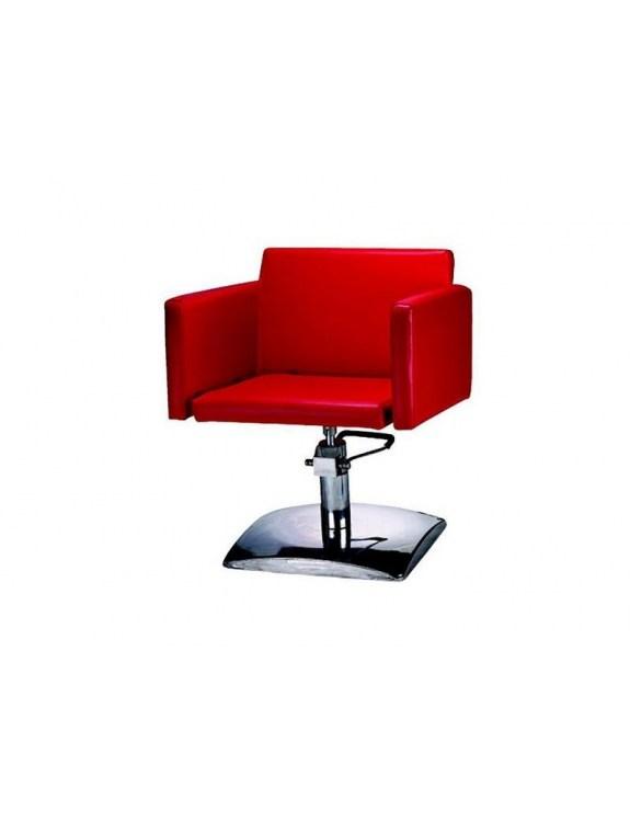 Fotel fryzjerski FIGARO MILANO 1162 czerwony