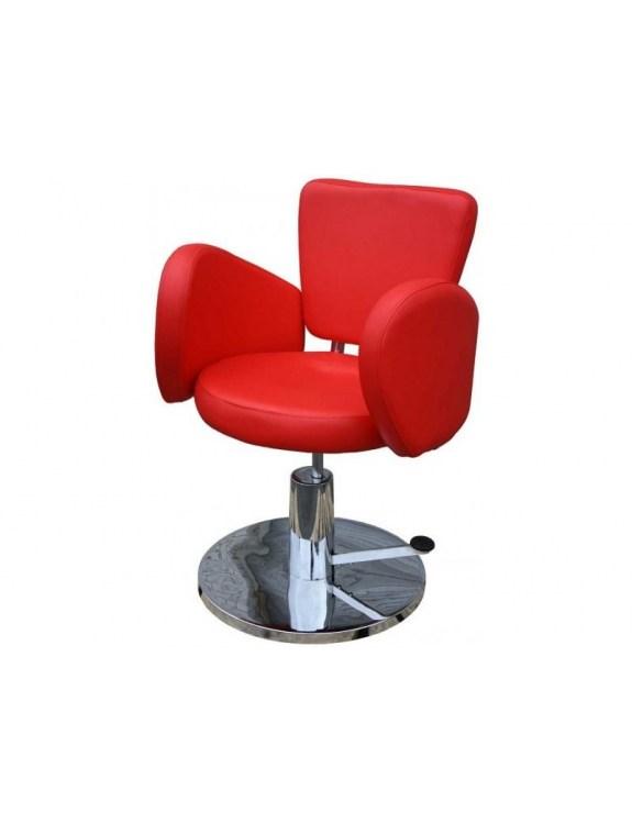 Fotel fryzjerski FIGARO CESANO 1367 czerwony