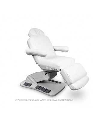 Fotel kosmetyczny NIKO obrotowy biały z podgrzewaniem