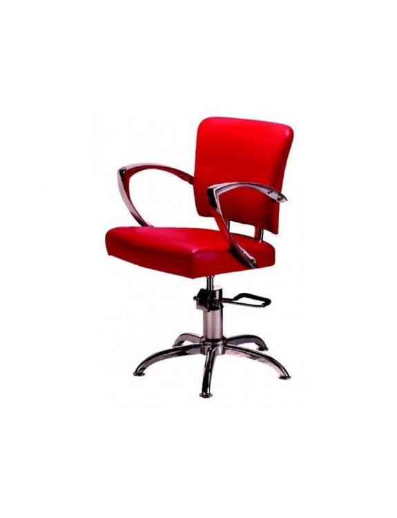 Fotel Fryzjerski FIGARO NAPOLI 1167 czerwony