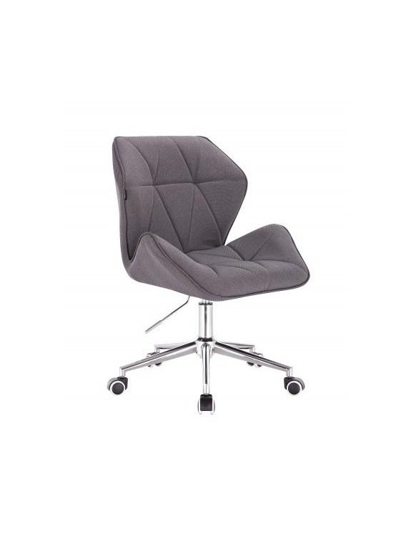 CRONO - Krzesło kosmetyczne tweedowy popiel   Kółka