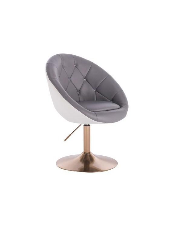 BOL CRISTAL - Krzesło kosmetyczne czarne na krzyżaku