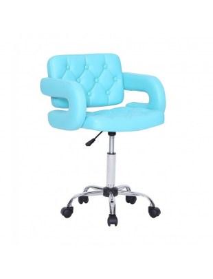 Fotel fryzjerski Surf - turkusowy