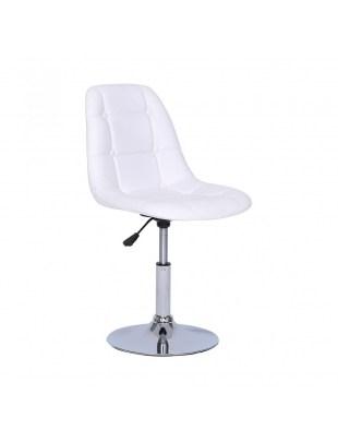 Krzesło kosmetyczne Pak - białe
