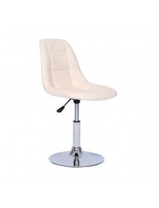 Krzesło kosmetyczne Pak - kremowe