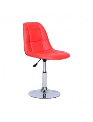 Krzesło kosmetyczne Pak - czerwone