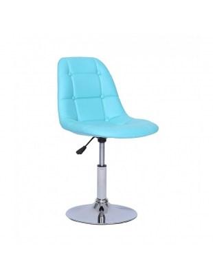 Krzesło kosmetyczne Pak - turkusowe