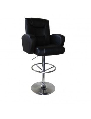 Krzesło kosmetyczne Sansa - czarne