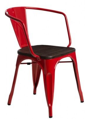 Krzesło Paris Arms Wood czerw. sosna szc zotkowana