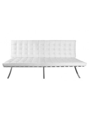 Sofa BA2 2 osobowa, biała ekoskóra