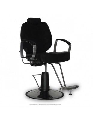 FOTEL B-15 - Fotel fryzjerki męski czarny