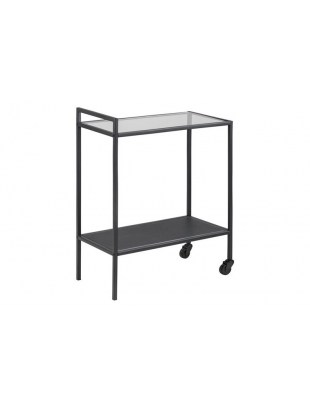 Wózek barowy Seaford Czarny/Szkło