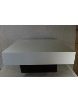 Stolik Small Quadrat 80 biały wenge 35 O utlet