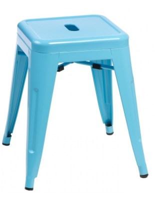 Stołek Paris niebieski inspirowany Tolix