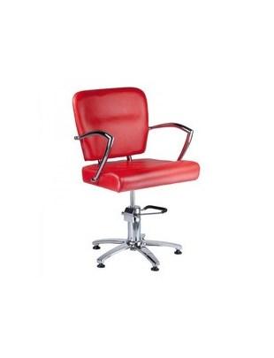 Fotel fryzjerski LIVIO czerwony BH-6369