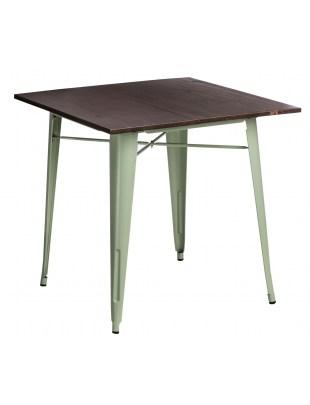 Stół Paris Wood zielony sosna orzech