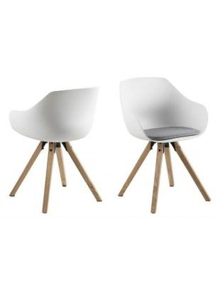 Krzesło Tina Wood białe