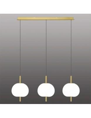 Ekskluzywna lampa LED wisząca złoto biał a - APPLE 3