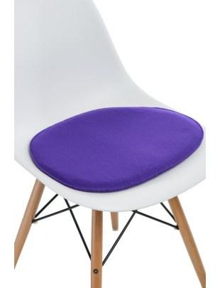 Poduszka na krzesło Side Chair fioletowa