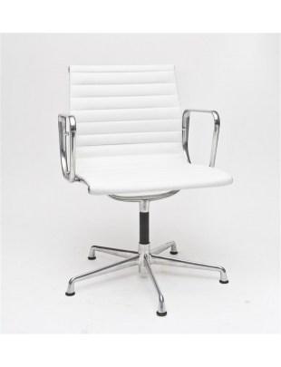 Fotel konf. CH1081, biała skóra outlet