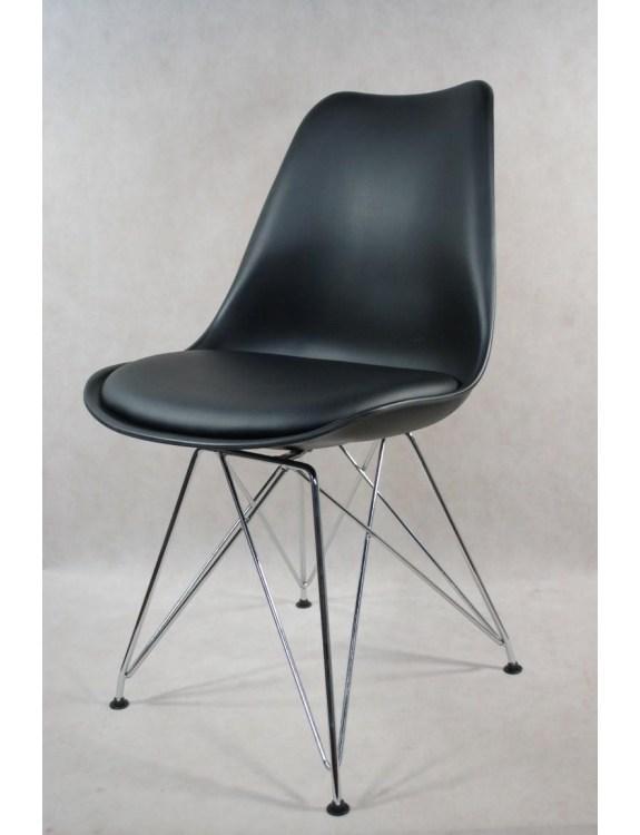 Krzesło Norden DSR PP czarne 1627 Outlet
