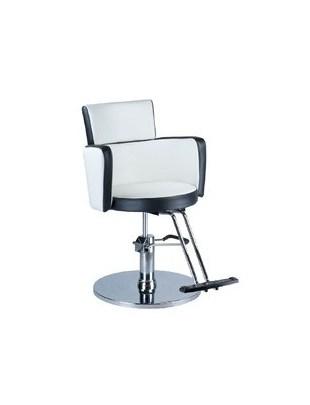 Fotel fryzjerski LUIGI BR-3927 biało-czarny