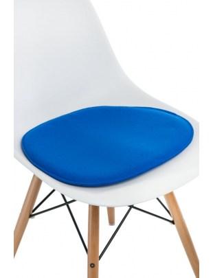 Poduszka na krzesło Side Chair niebieska