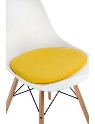 Poduszka na krzesło Side Chair żółta