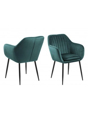 Krzesło Emilia Velvet green/black