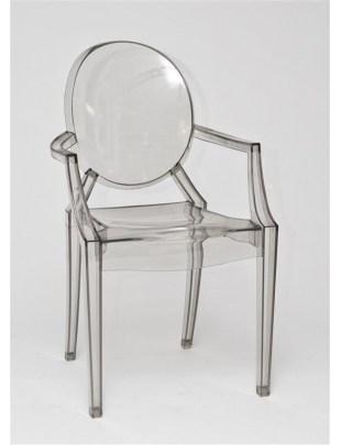 Krzesło Royal szary transparent