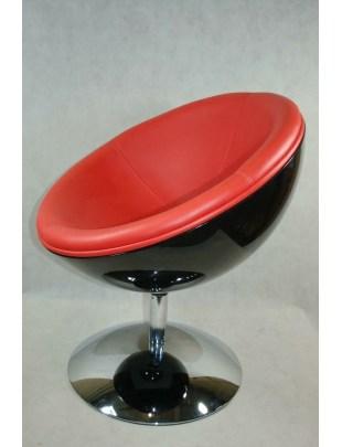 Fotel Mercury K-czarny, S-czerwone Outle t
