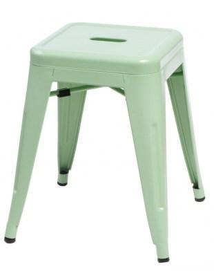 Stołek Paris zielony inspirowany Tolix