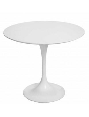 Stół Fiber o90 biały MDF Outlet