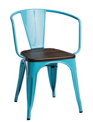 Krzesło Paris Arms Wood nieb. sosna szcz otkowana