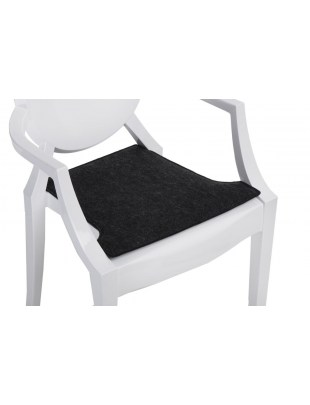 Poduszka na krzesło Royal szara ciemna