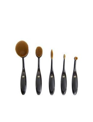 ESSENTIAL MICROFIBRE COSMETIC BRUSH COLLECTION 5 SZT - BROM - RIO