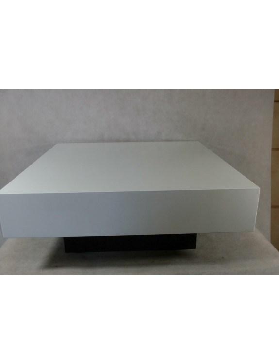 Stolik Small Quadrat 80 biały wenge 30 O utlet