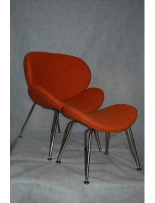 Fotel z podn.Tranche pomarań. outlet