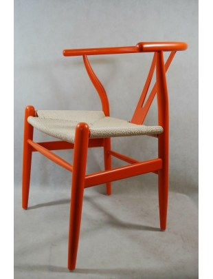 Krzesło Wicker Color pomarańczowe Outlet