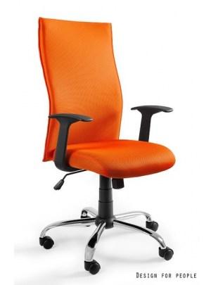 Black on Black - krzesło biurowe - pomarańczowe