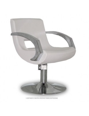 Roma - Fotel fryzjerski biały