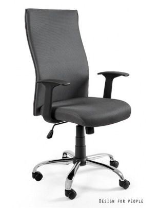 Black on Black - krzesło biurowe - szare