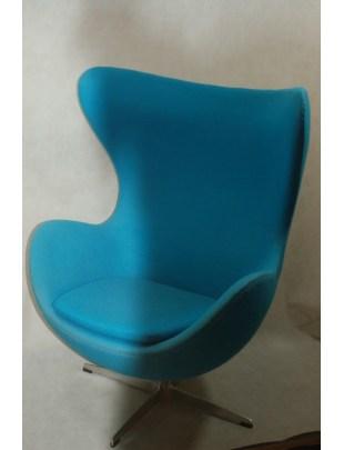 Fotel Jajo kaszmir niebieski jasny 43 Premium Outlet