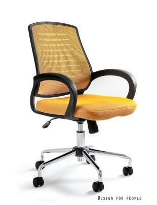 Award - fotel biurowy - żółty